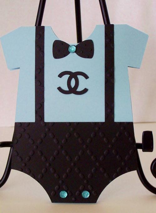 Chanel Blue Onesie Invitation