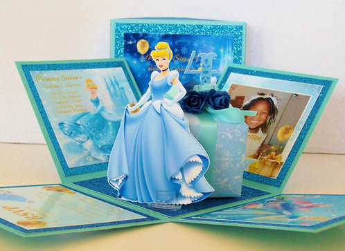 Princess Cinderella Cut-Out Custom Exploding Box Event Invitation