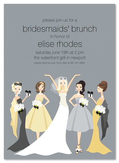 Blonde Bella Bridesmaids Bridal Shower and  Event Invitation