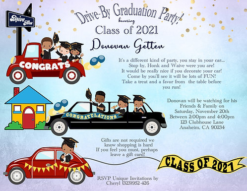 #2  Drive-By Graduation Invitation (sold in sets of 10)