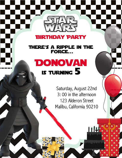 Star Wars Force Birthday Party Invitation