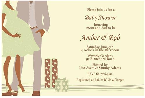 Unisex Couple Shower African-American Keepsake Baby Shower Bottles Invitation