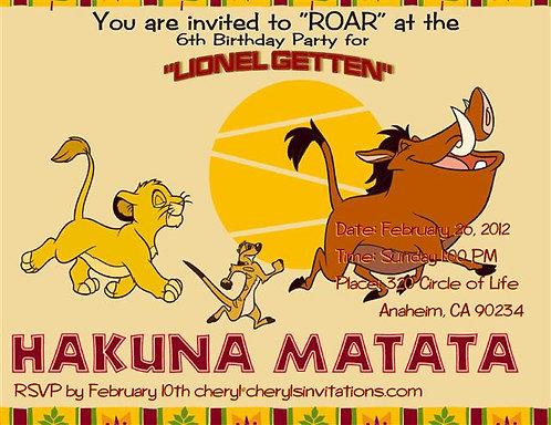 #4 Lion King Birthday Party Invitations