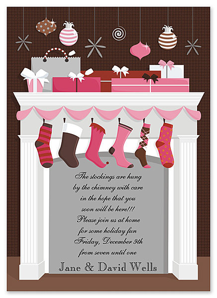 Holiday Mantle Party and  Event Invitation