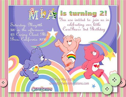 Care Bear Birthday Party Invitation
