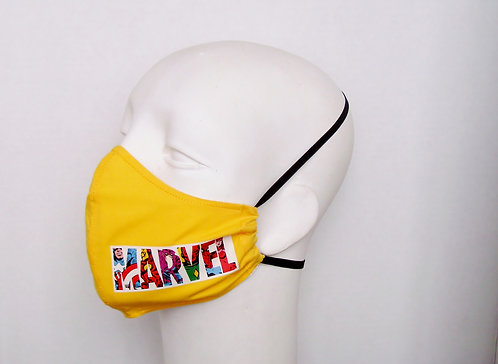 Marvel Comic Contoured Face Mask with Filter Pocket
