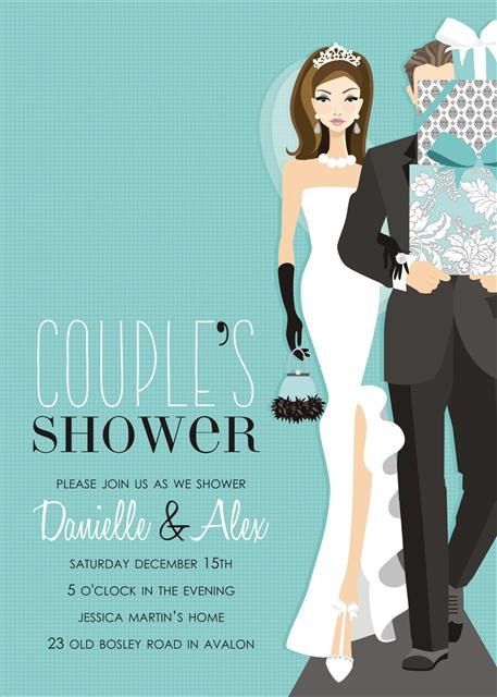 Brunette Couples Bridal Shower and  Event Invitation