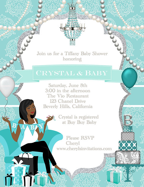 Tiffany & Baby Shower Invitations (sold in sets of 10)