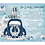 Thumbnail: African American Radiant Blue Drive By Christmas Invitation (sold in sets of 10)