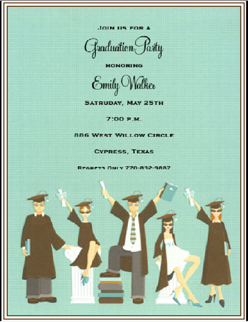 Graduation Party Invitation Bottle and  Event Invitations