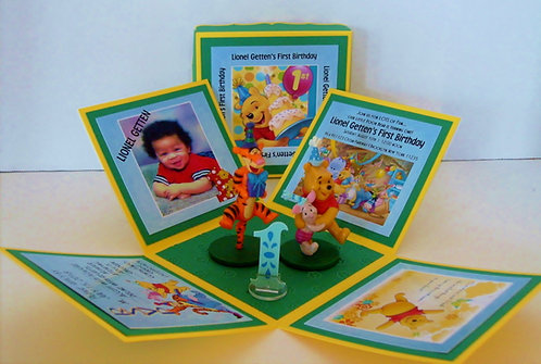 Winnie the Pooh Party Custom Exploding Box Event Invitation