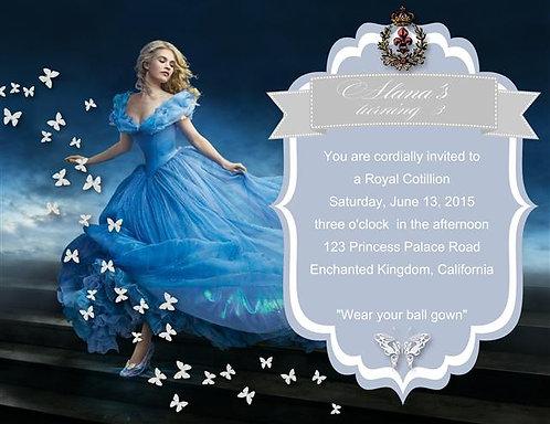New Cinderella Birthday Party Invitation