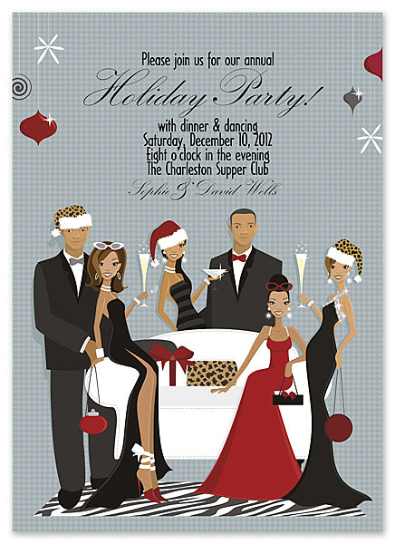 Holiday Gathering African American Party and  Event Invitation