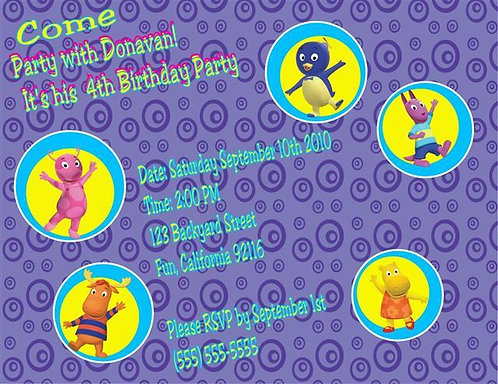 Backyardigans Birthday Party Invitation