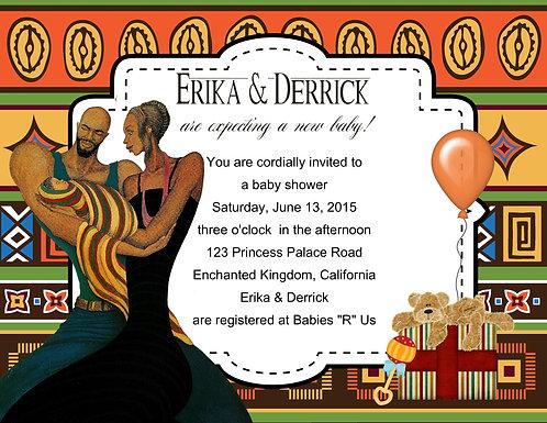 Ebony Ethnic Baby Shower Invitation