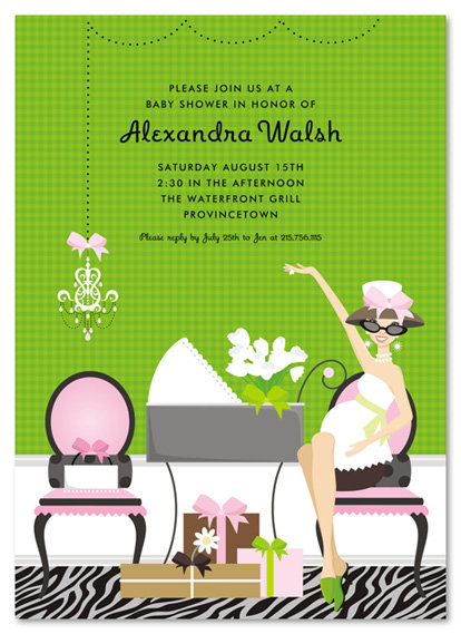 Showered In Pink Baby Shower Invitations
