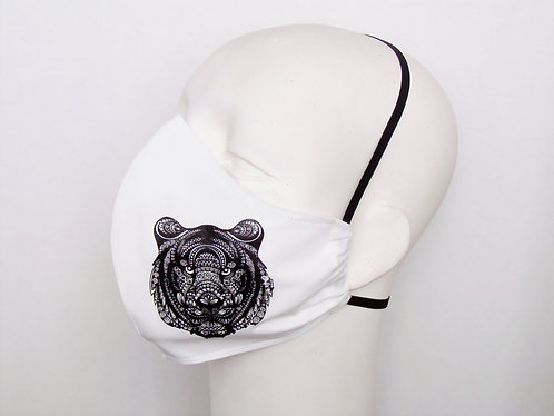 Tiger Contoured Face Mask with Filter Pocket
