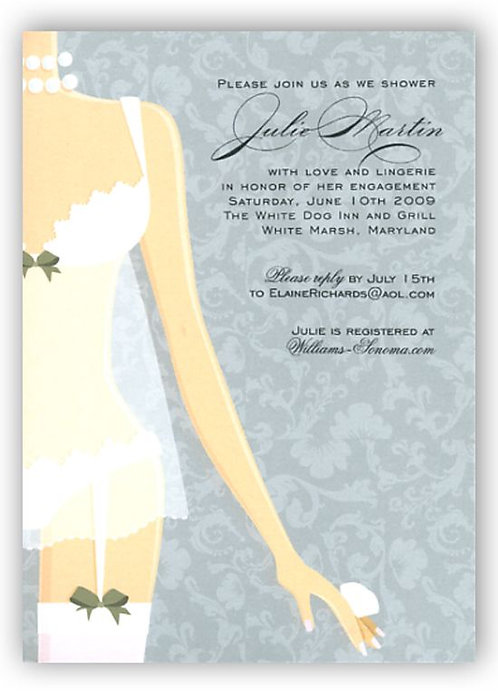Sexy Lingerie Bridal Shower and  Event Invitation