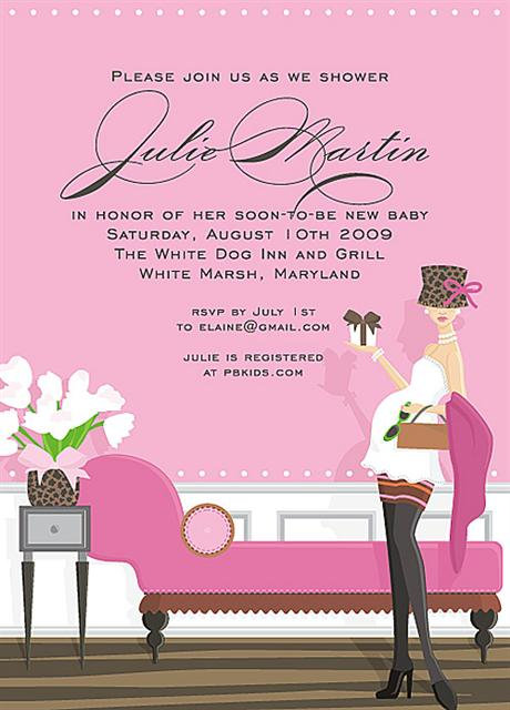 Pink Chic Baby Shower  Invitations