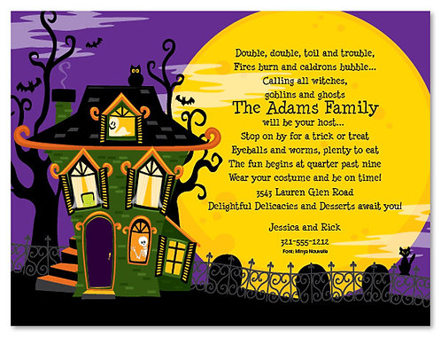 Haunted Halloween House Party and  Event Invitation