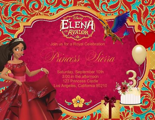 2 Princess Elena Of Avalor Party Keepsake Bottle Invitation Cards