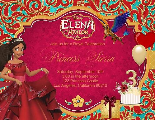 #2 Princess Elena of Avalor Birthday Party Invitation