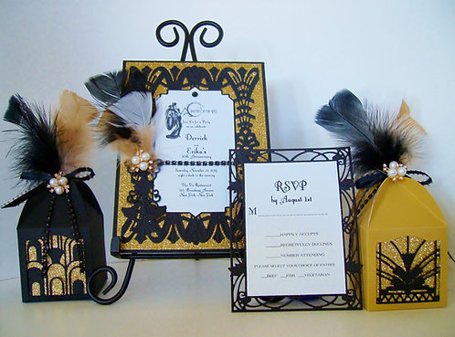 """Putting on the Ritz!"" Art Deco Party / Quinceañera  Invitation"