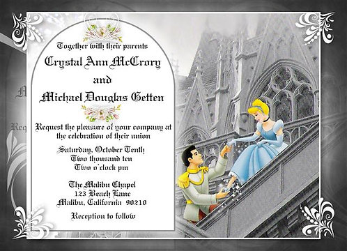 Cinderella Wedding / Event Invitation