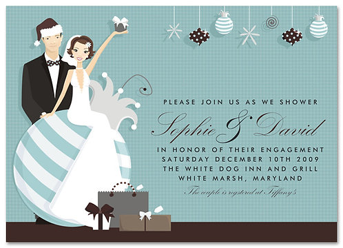 #2 Holiday Couple Shower Bridal Shower and  Event Invitation