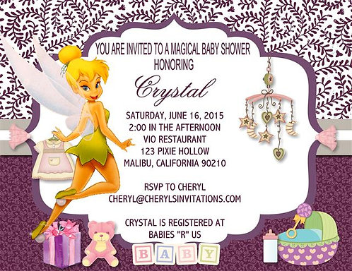 #2 Tinkerbell Baby Shower Invitations