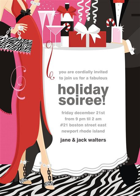 Holiday Soiree! Holiday Party and  Event Invitation