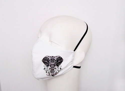 Elephant Contoured Face Mask with Filter Pocket