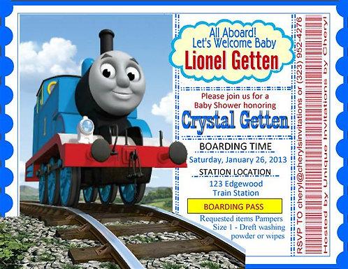 Thomas the Train Baby Shower Invitation