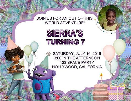 Home Birthday Party Invitation