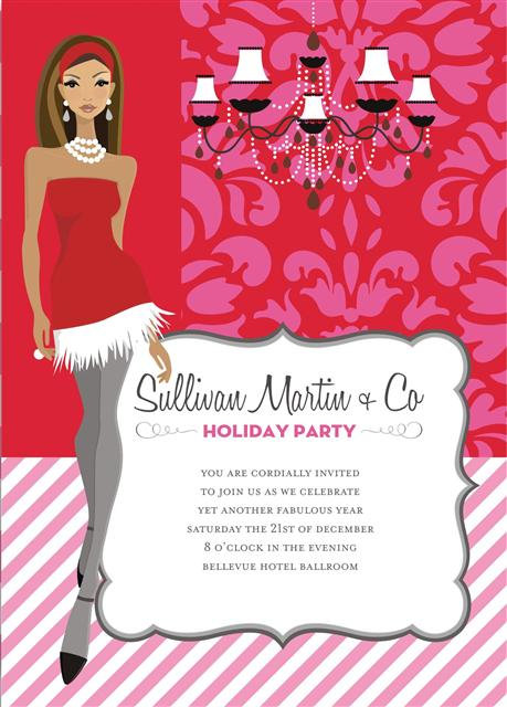 Sexy African American Holiday Party and  Event Invitation