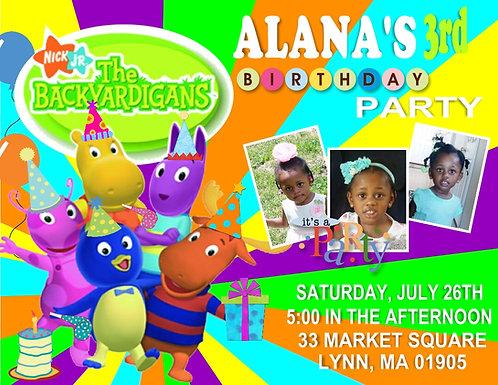 Backyardigans Birthday Party Invitations