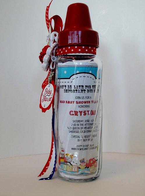 Designer Alice in Wonderland Baby Shower Invitations (sold in sets of 10)