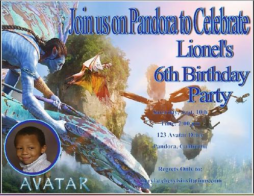 Avatar Birthday Party Invitation