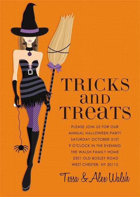 Trick + Treat Halloween Party and  Event Invitation