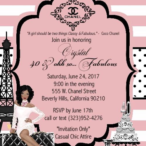Chanel Birthday Party Invitations Best Birthday Cake 2018