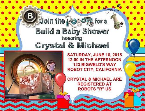 Robots Baby Shower Invitation