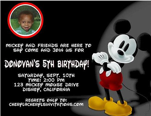 #2 Mickey Mouse Birthday Party Invitation