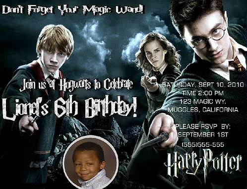 Harry Potter Gang Birthday Party Invitation