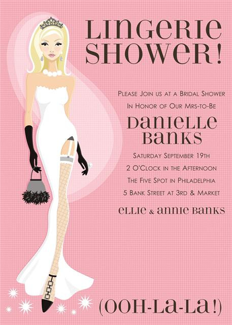 Pink Lingerie Bridal Shower and  Event Invitation