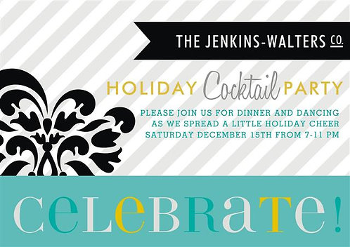 Celebrate the New Year's Holiday Party and  Event Invitation