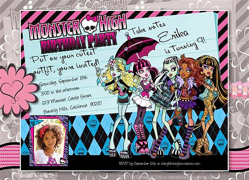 #1 Monster High Birthday Party Invitation