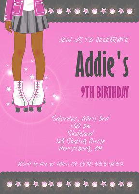 Skating Birthday Party Invitation