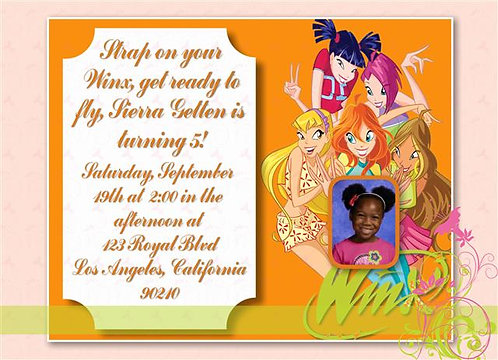 #2 Winx Club Birthday Party Invitation