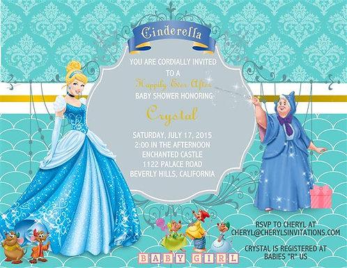 Cinderella Baby Shower Invitations