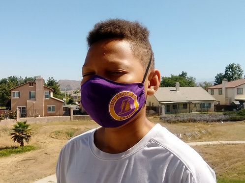 Lakers Contoured Face Mask with Filter Pocket